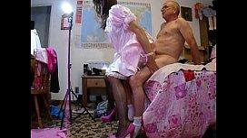 Pink sissy analgasm