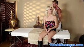 Massaged glam babe filmed on spycam