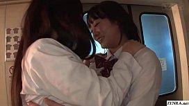 JAV lesbian schoolgirls fingering explosion in train