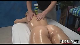 Cutie screwed after sensual massage given by jake