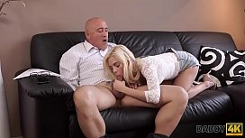 DADDY4K. Adorable Candee Licious has fun with caring old gentleman