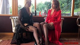 Red XXX and her sexy girlfriend play with sex toys