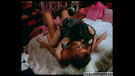 Hot brunette with hairy pussy fucking missionary and on top in retro porn