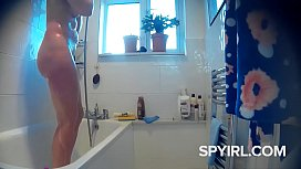 Hidden cam, Chubby Brunette with hairy pussy