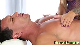 Teen masseuse tugs client
