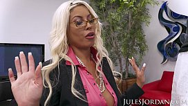 Jules Jordan - Bridgette B Big Tit MILF Gets A Bonus For All Her Hard Work. A Big Black Cock