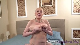 Big titted granny railed