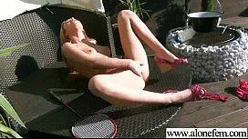 Alone Freak Girl Insert Stuffs In Her Holes movie-03