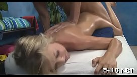 Sexy exchange student fucks her masseur