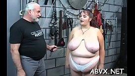 Taut pussy bizarre bondage in home xxx video