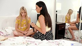 Lesbian Daughter found her Stepmom'_s diary - Scarlett Sage and Reagan Foxx
