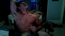 a guy is milked until cum and then endures post orgasm torment