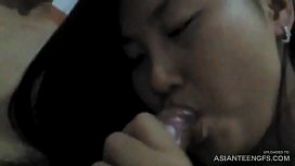 (Real amateur) Asian STUDENT'_s hairy pussy closeup fuck