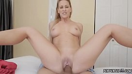 Mom begs for cock and hot step seduces pal'_ playfellow Cherie Deville