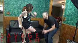 Lizzy Lamb and Sully Savage Ball Destruction FEMDOM