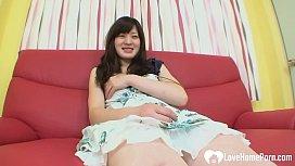 Tiny Japanese teen beauty is ready to ride hard cock