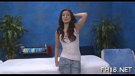 Naked brunette Allie Jordan getting rammed