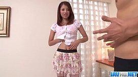 Karen Misaki kneels to suck cock and have sex  - More at javhd.net