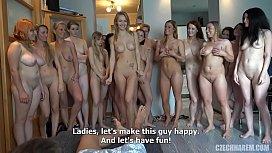 Girls Take Stranger to the Harem HomeParty