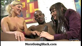 Big tits bounce on a black cock and mom joins in 2