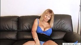 YouPorn - Sandy Dear Busty Mature Fingering Her Hairy Pussy