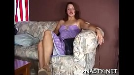 Youthful girl enjoying some alone time with her pussy toys