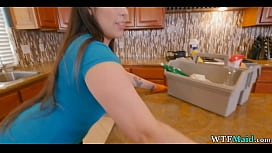 HUGE ass on cleaning lady