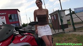 Euro babe considers an indecent offer