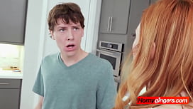 Lauren gets her plumbing drilled by horny stepbrother