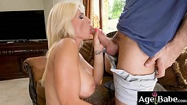 Tiffany Rousso is a big tittied mature woman who rides and bounces on Raul'_s meaty cock