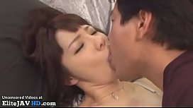 Japanese housewife loves to get spitted in mouth and fucked