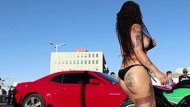 darleen davne evento  car wash calama parte 3 PERFILORIGINAL