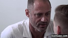 Older married daddy's first time gay sex