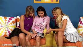 Threeway Delights lesbian threesome with Mae Paulina and Daniela from Sapphic Er