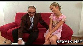 Lustful man kisses girl'_s tits