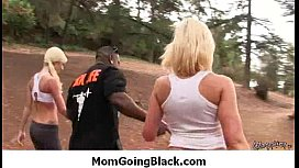 Interracial milf porn - Mommy rides black monster cock 3