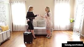 Lesbian Sales Woman Sara Jay Cunt Fucks Creaming Ho Carmen Valentina!