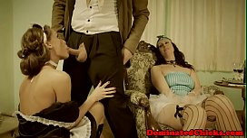 Gorgeous maid anally banged by maledom