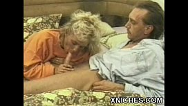 Busty Blonde chick oral sex