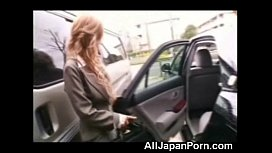 Asian Secretary in a Limo!
