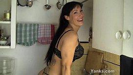 MILF Angela Humping The Sink