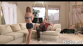 Guy bonks youthful teen twats at the casting and enjoys