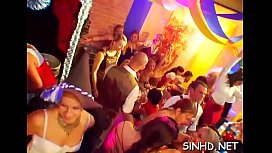Wild and salacious club pleasuring with alluring cuties