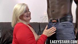 LACEYSTARR - Glamorous grandma anally creampied with BBC