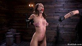 Newbie hairy slut tormented in dungeon