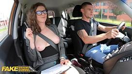 Fake Driving School MILF Emylia Argan fucks her student