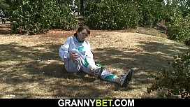 Injured 70 years old granny