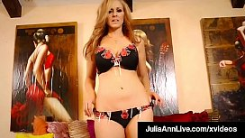 Red Heeled Hot Mommy Julia Ann Finger Fucks Her Mature Muff!
