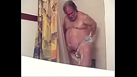 Me taking a shower