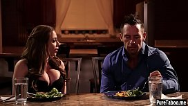 Cheating slut MILF wife got rough banged for a dinner